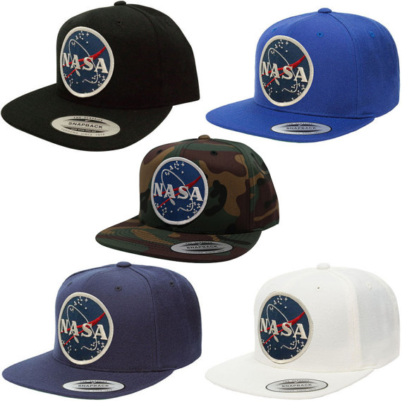 Flexfit Original Classic Snapback Cap with NASA Meatball Logo Patch ... e4ac0c994e9