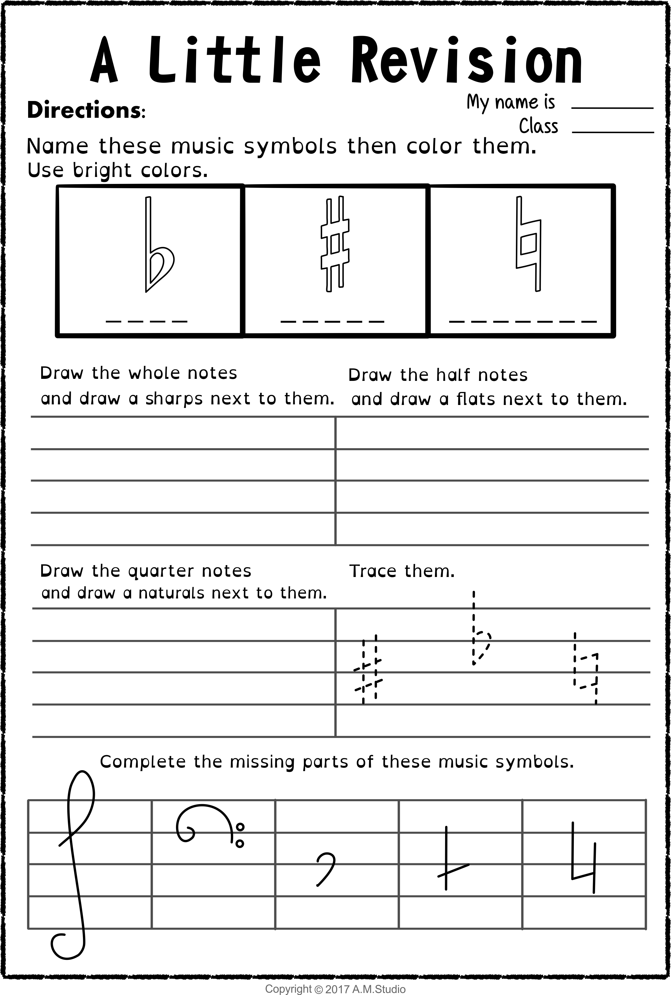 Let S Learn The Music Symbols No Prep Printables Bundle