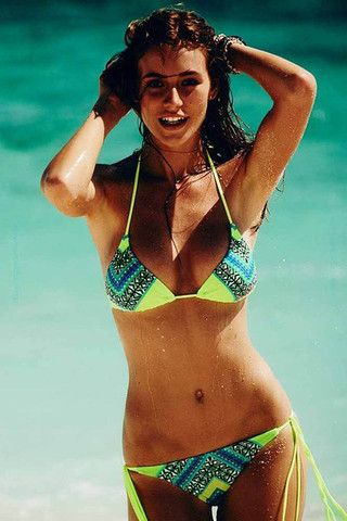NEW LOOK WOMENS Dylan Tropical Triangle Moulded Bikini
