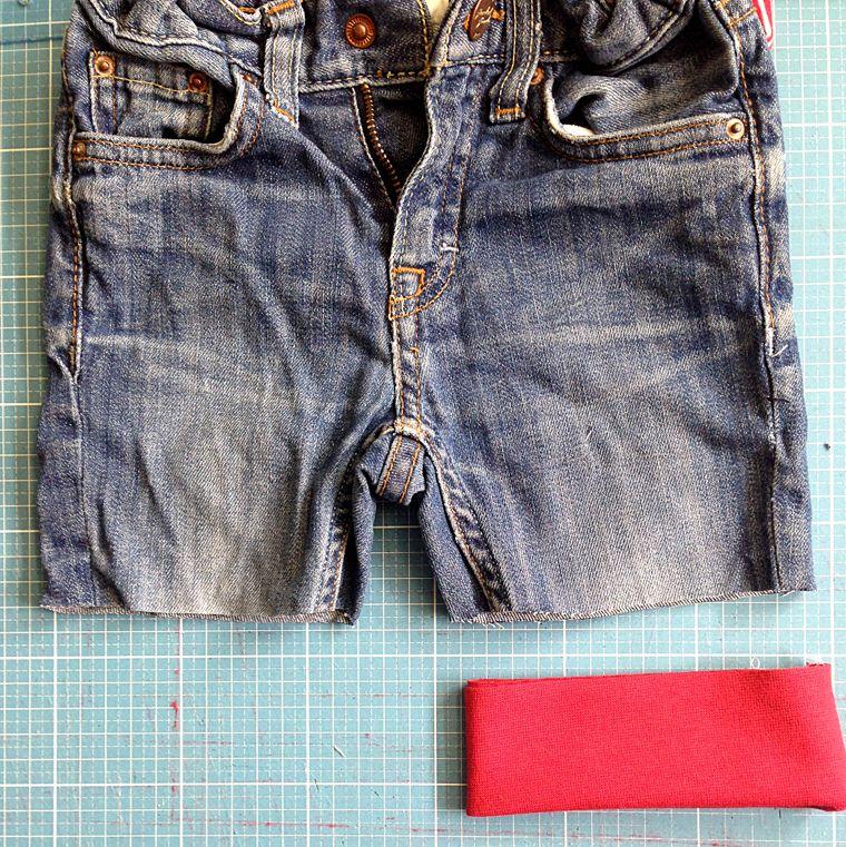 Jeans Recycling Tutorial Bündchen annähen | lillesol & pelle ...