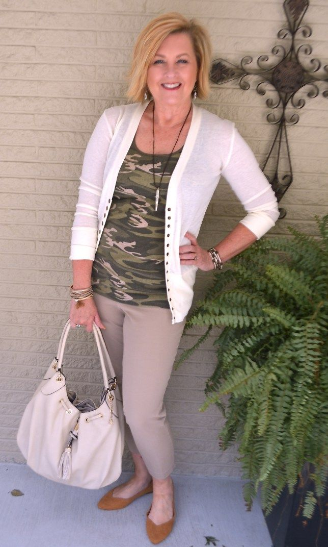 a3c9d9d17 50 IS NOT OLD | CAMO AFTER 40 | Camouflage | Khaki | Fashion over 40 for the  everyday woman