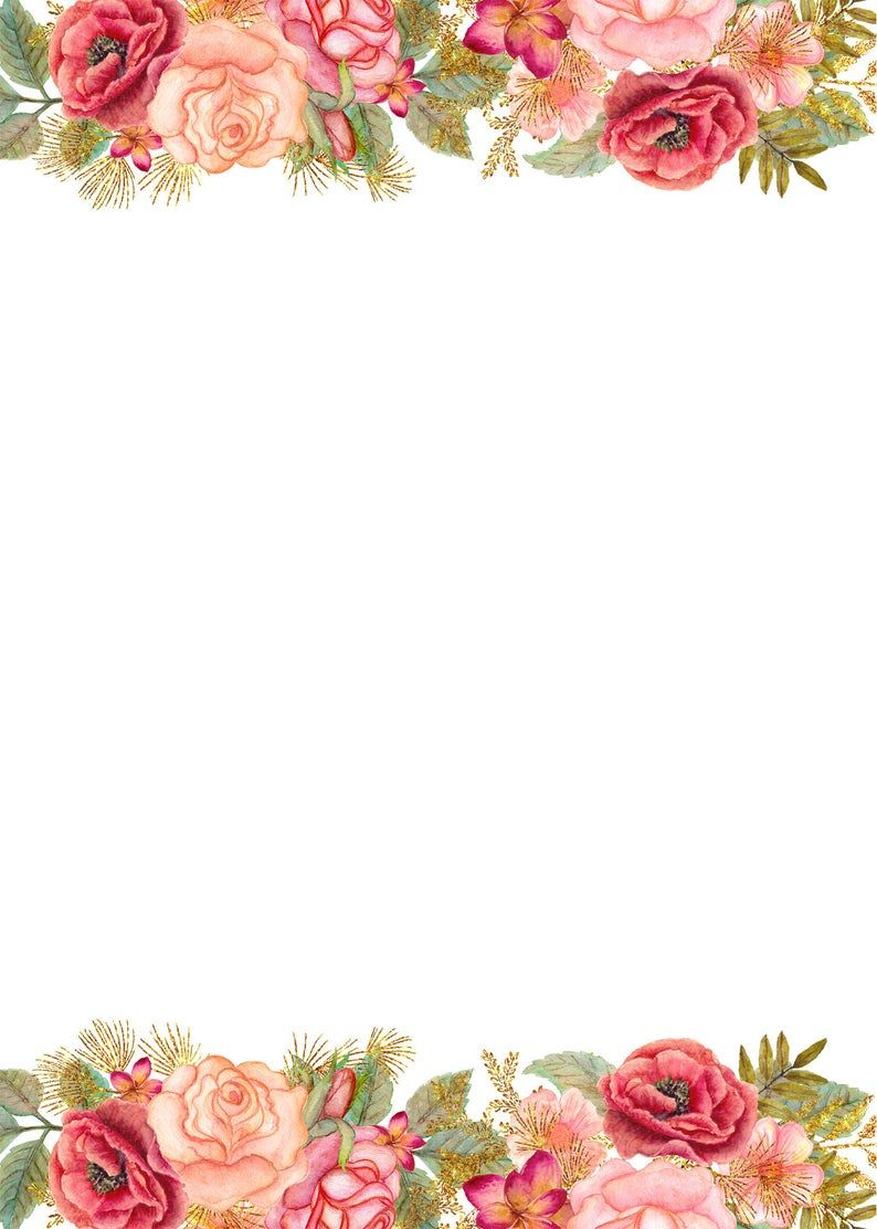 Jpg Wedding Templates For Commercial Use Rsvp Thank You Etsy Wedding Templates Blank Wedding Invitation Templates Floral Invitations Template