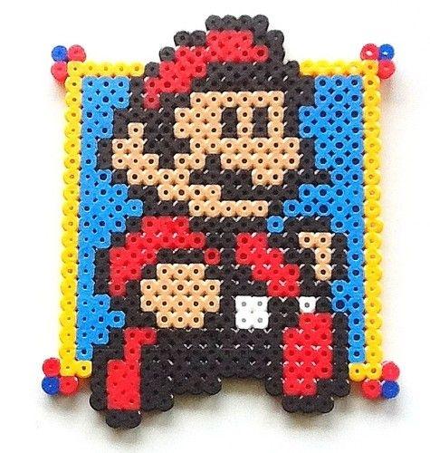 Super Mario Bros Super Mario Perler Bead Sprite  by nintendo-universe
