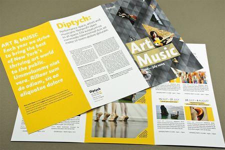 Art \ Music Series Brochure Graphic Design Pinterest - music brochure