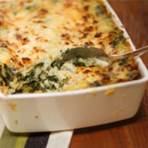 lasagna de espinaca