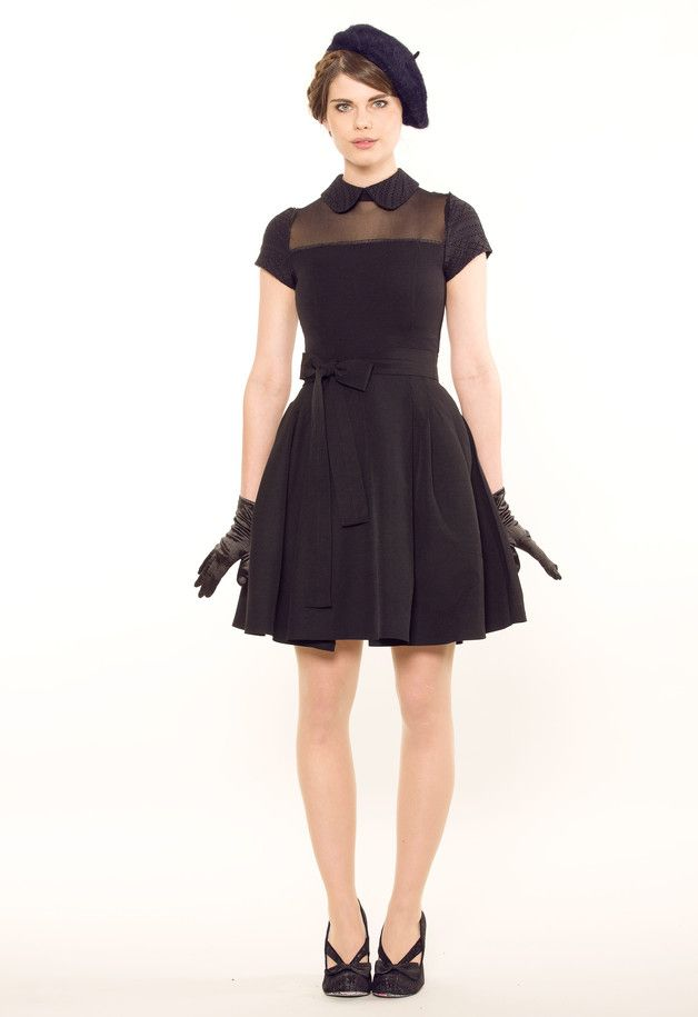 Festliches Kleid, Cocktailkleid, kleines Schwarzes   cute black dress,  elegant and retro made by Femkit via DaWanda.com e0525f196c
