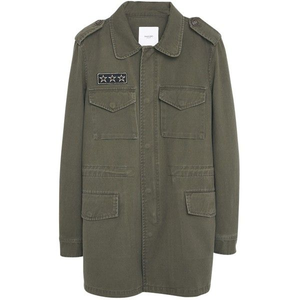 Mango Military Style Trench Coat, Khaki (735 SEK) ❤ liked on Polyvore featuring outerwear, coats, jackets, vestes, khaki trench coat, military style coat, long khaki coat, trench coat and military coat