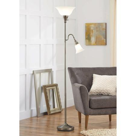 Better Homes Garden Floor Lamp Combo Antique Nickel Walmart Com Lamps Living Room Floor Lamps Living Room Living Room Stands Living room floor lamps walmart