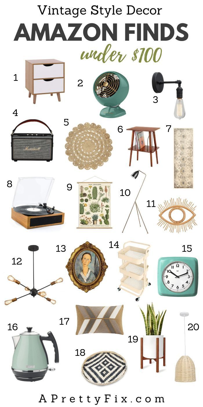 Photo of Amazon Vintage-Inspired Decor Finds Under $100 – A Pretty Fix