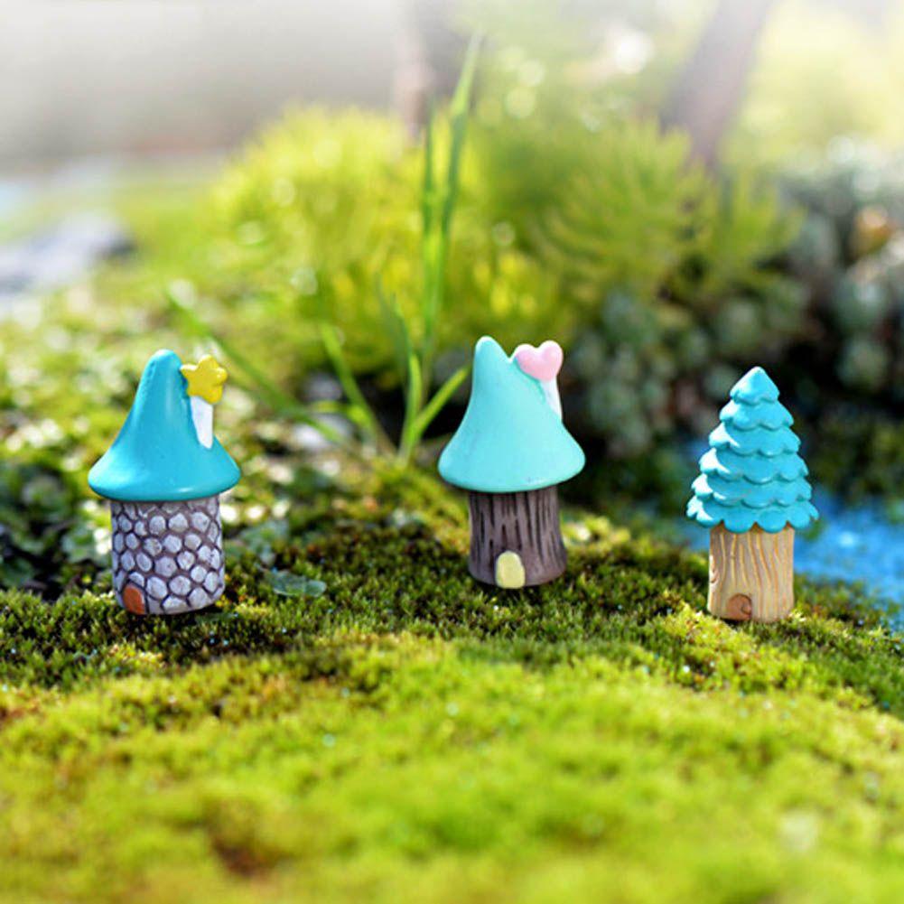 Fairy Miniatures Resin House Micro Landscape Mini Garden Decoration DIY Crafts
