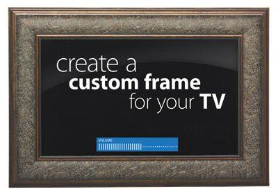 Michaels Sells Kits To Turn Molding Into A Tv Frame Framed Tv Dream Home Design Custom Framing