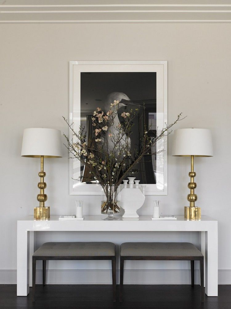 Living Room Decorating Ideas: Modern Console Tables To Have | White Wood  Console Ideas | See More At ...