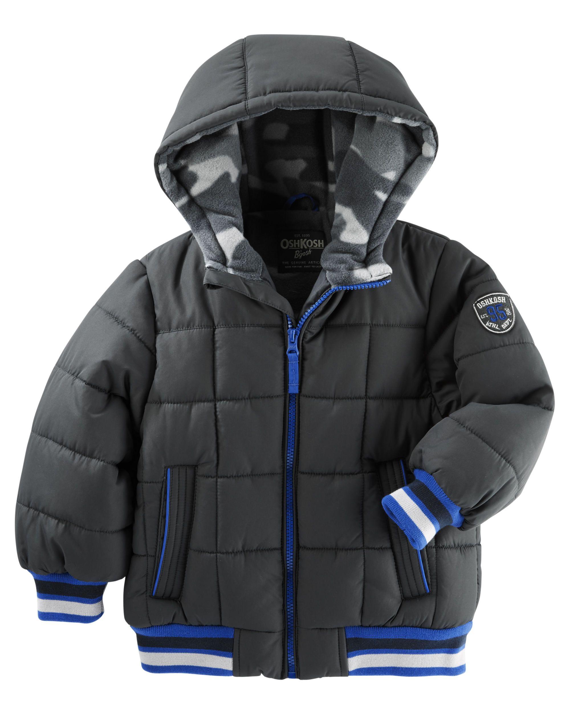 Oshkosh Quilted Lightweight Puffer Jacket Boy Outerwear Jackets Puffer Jackets [ 2500 x 2000 Pixel ]