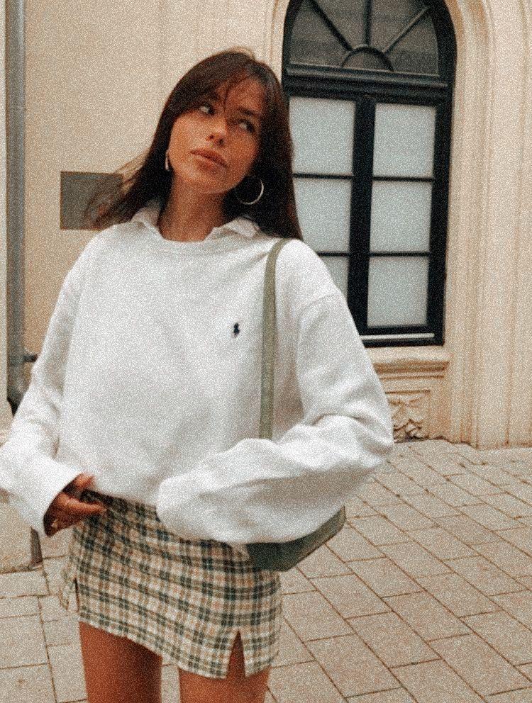 Ralph Polo Lauren Oversized crewneck sweater outfi