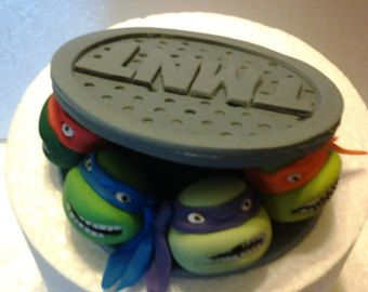 Teenage mutant ninja turtles sewer fondant cake topper Cake