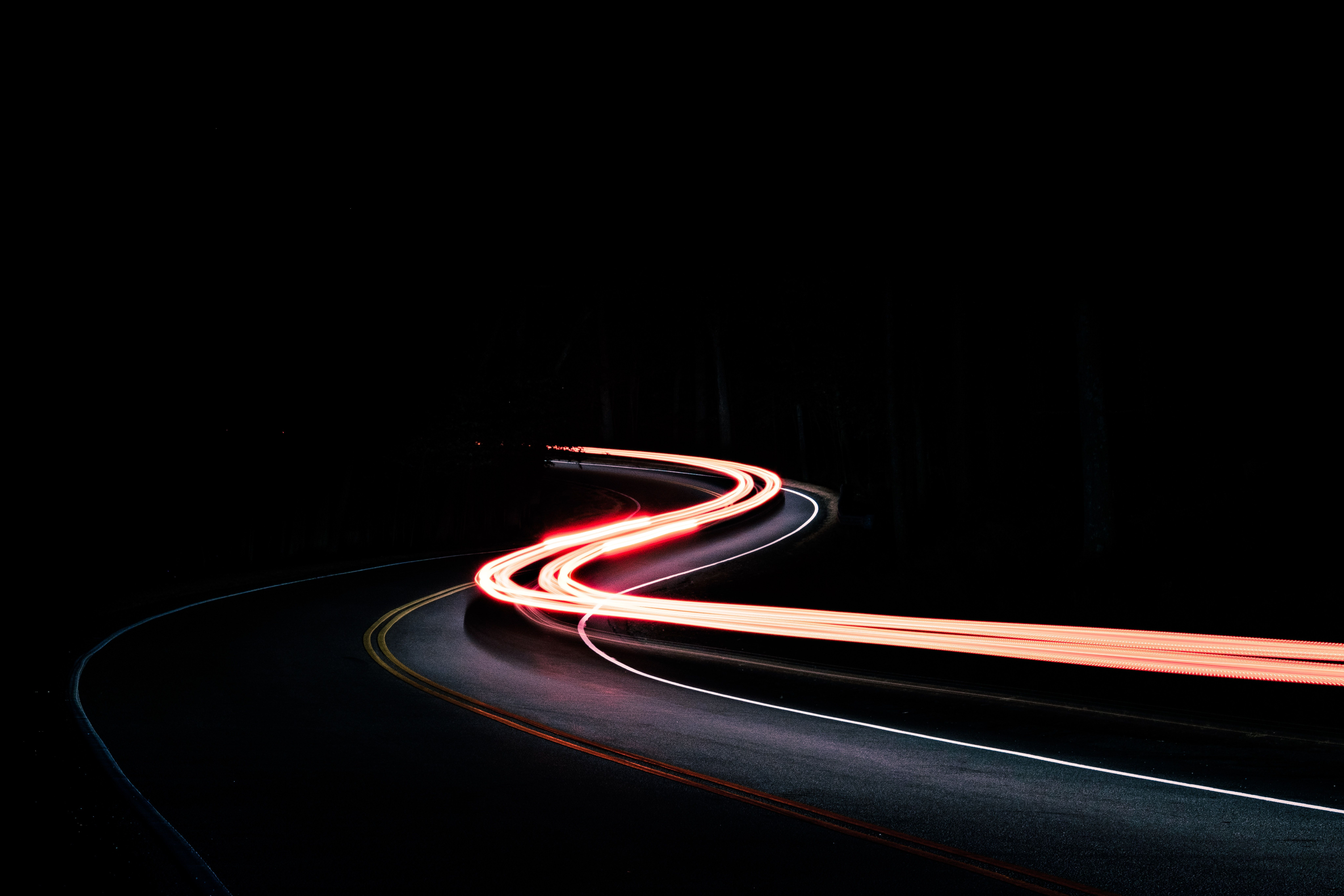 Long Exposure Road Wallpaper And Black Wallpapers Hd Photo By