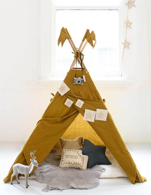un tipi diy pour la chambre des enfants diy enfants. Black Bedroom Furniture Sets. Home Design Ideas