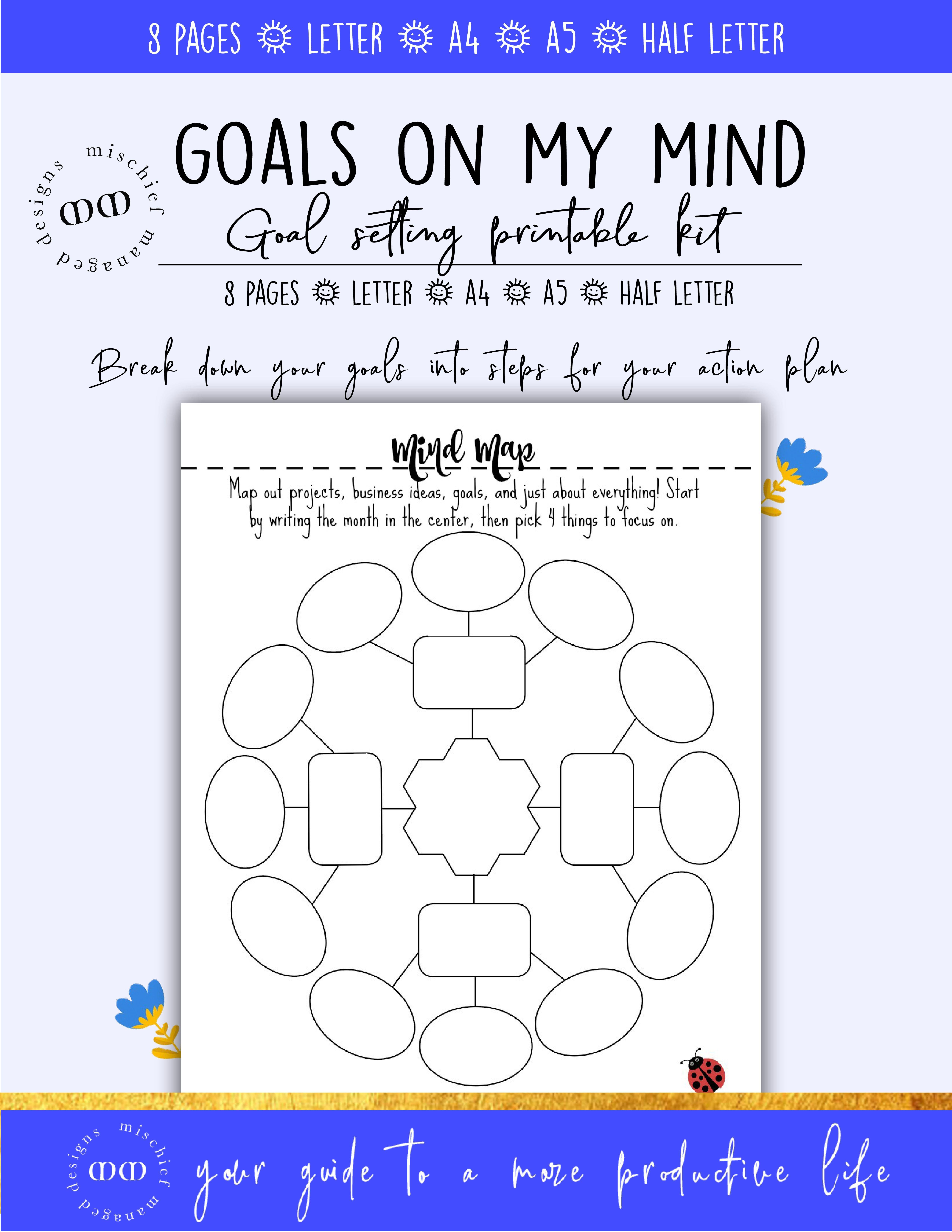 Goal Setting Planner Kit Goal Planner Printable Success