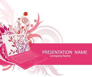 Templateswise feature a wide variety of free powerpoint illustrated powerpoint template with a pink laptop with floral wallpaper artwork this theme is suitable for presentations on various topics and includes toneelgroepblik Gallery