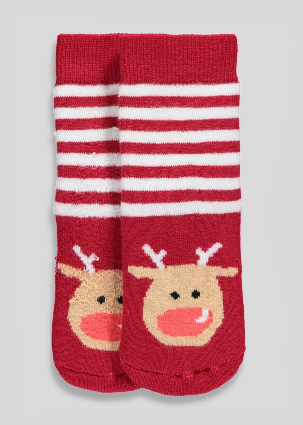 Kids Rudolph Christmas Slipper Socks (Newborn-8.5) | Matalan ...