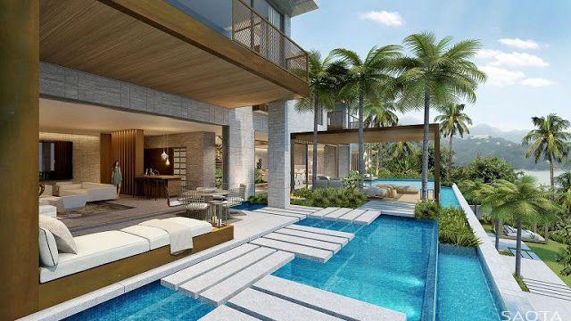 Casa HK BBQ Gardens diseño en cascada Picsinas Pinterest