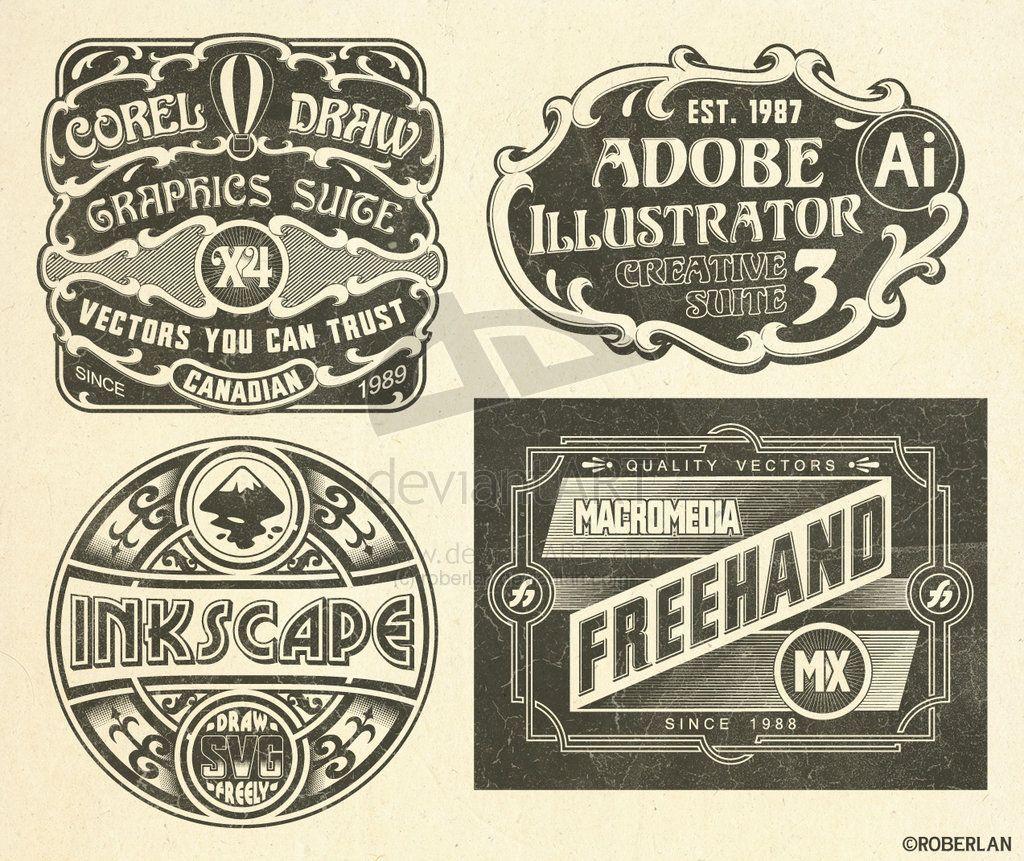 Vintage Vector Logos By Roberlan Jpg Jpeg Image 1024 861 Pixels Graphic Design Logo Branding Design Logo Vintage Graphic Design