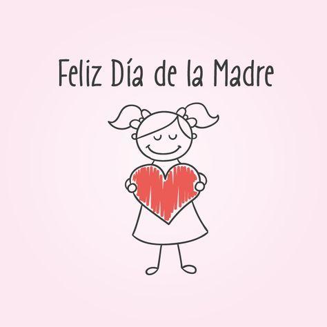 Feliz Dia De La Madre Vector Feliz Dia De La Madre Imagenes De Feliz Dia Dia De Las Madres