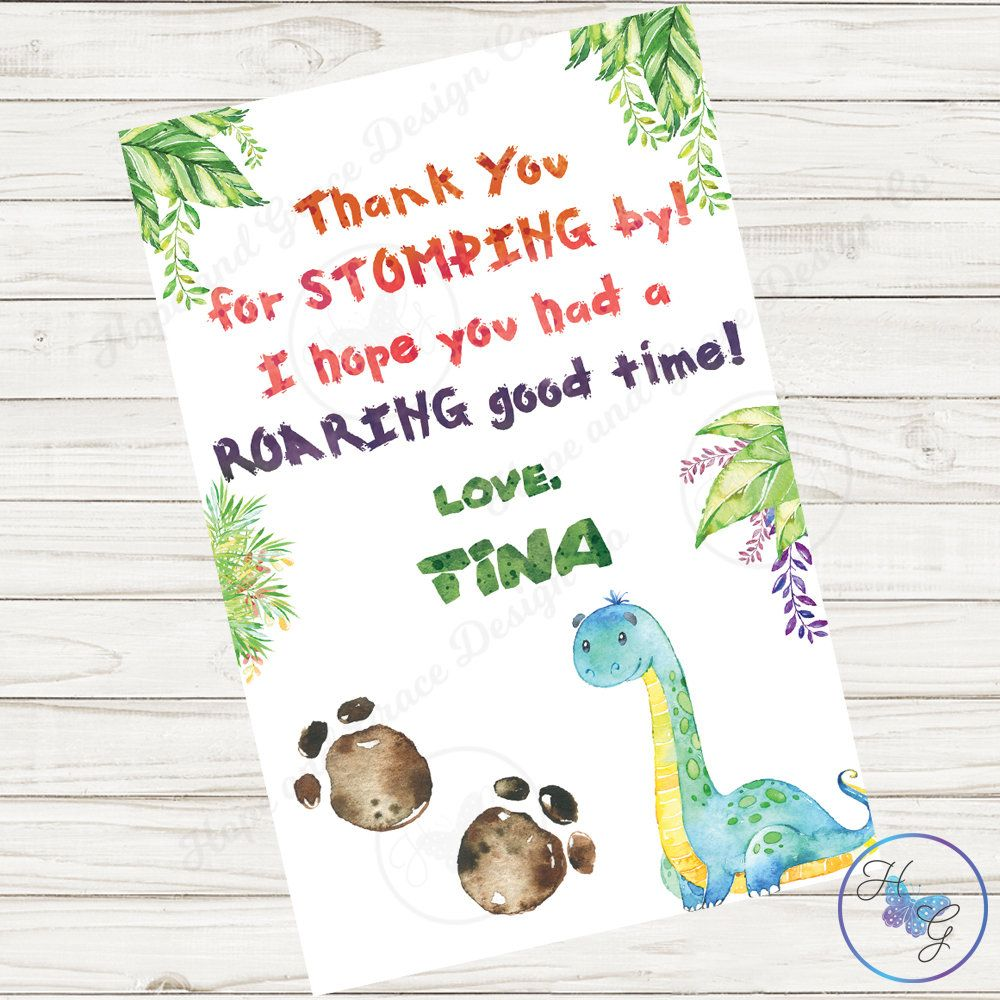 Dinosaur Birthday Thank You Card Dinosaur Thank You Card Etsy Birthday Thank You Cards Thanks Card Birthday Thank You