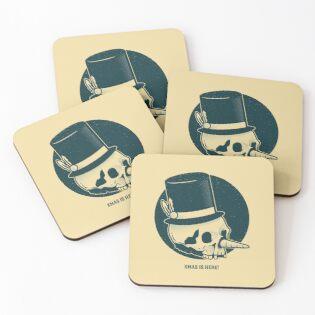 'Funny Snowman Skull Happy Holidays merry Christmas' Coasters by Urbanbestie -   19 happy holiday Funny ideas