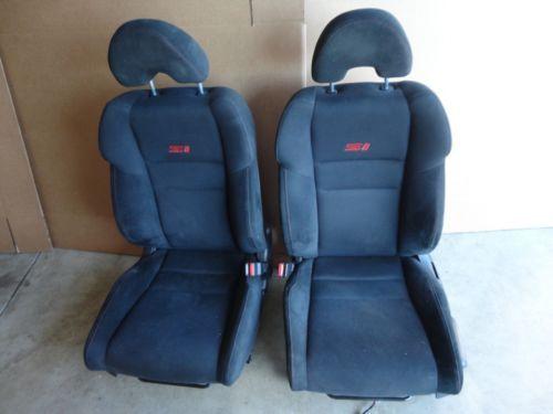 06 10 Honda Civic Si Driver Passenger Front Seats W Airbag Black Seat Ebay Honda Civic Si Honda Civic Honda Crx