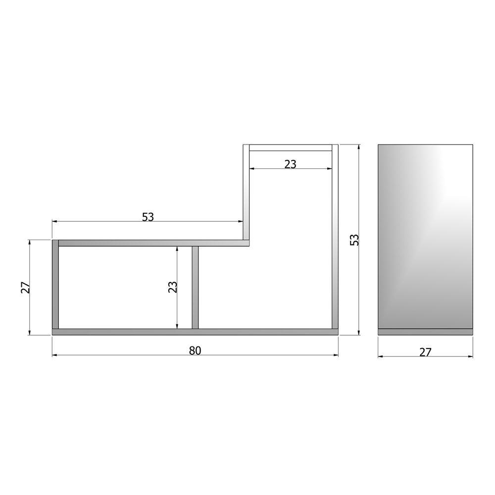 Fesselnd Woood Tetris Stapelkast/Roomdivider