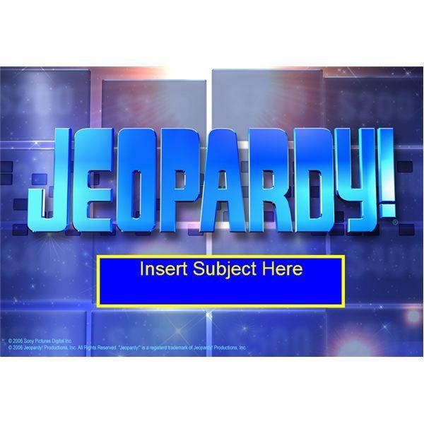 Interactive Whiteboard Games Jeopardy  Work Ideas