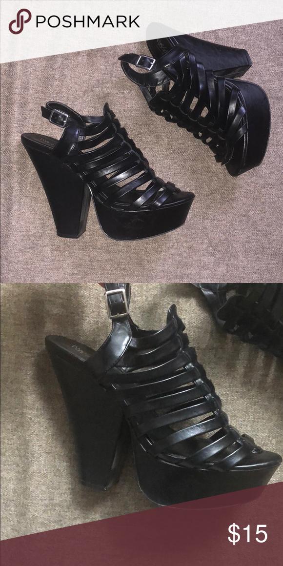 low price sale reputable site authentic Black platform heels Nice & sturdy black platform heels ...