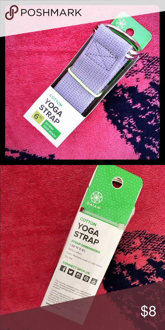 Gaiam Cotton Yoga Strap Brand New In Box Gaiam Cotton Yoga Strap Brand New In Box Light Gray Color 6 Feet Long To Extend Your Reach Bo Yoga Strap Gaiam