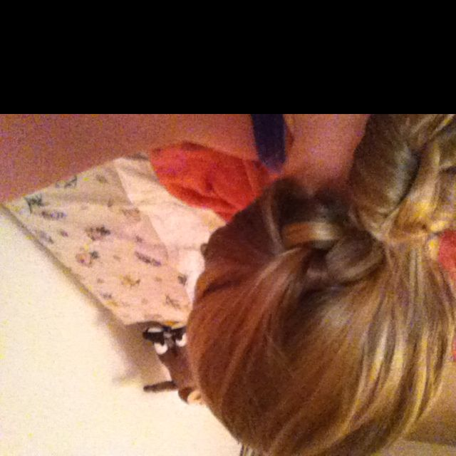 Ugg it's upside down ):  But this is my braid bun (: