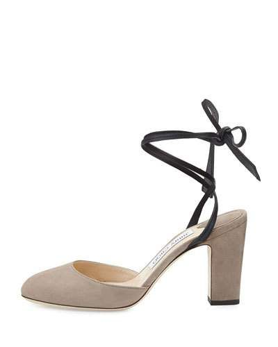 JIMMY CHOO LUCIA SUEDE 85MM ANKLE-WRAP SANDAL. #jimmychoo #shoes #sandals