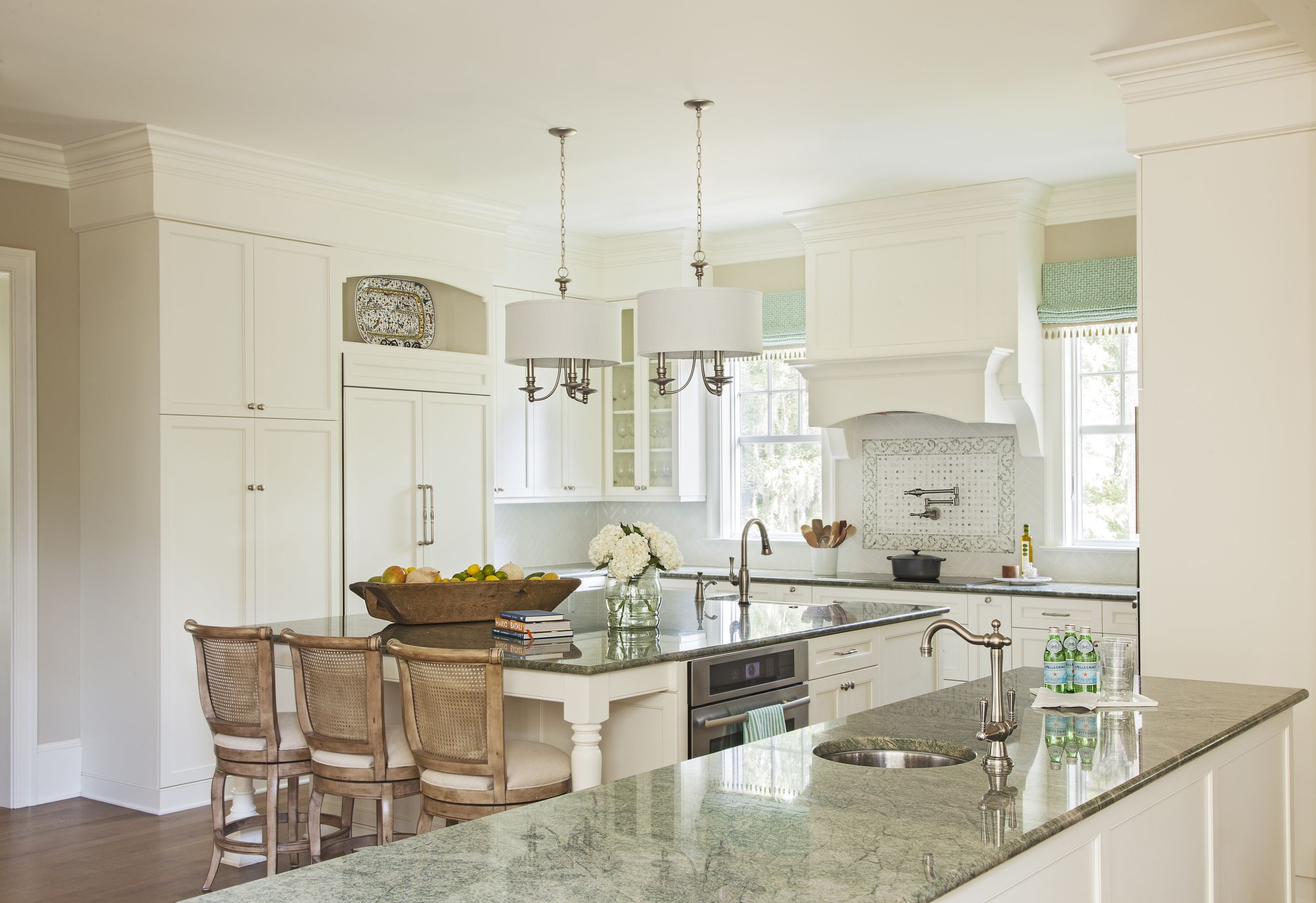 Kitchen In Green And Creams Riverside Designers With Images Espresso Kitchen Cabinets