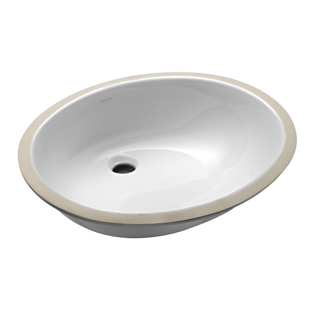 Kohler Caxton Vitreous China Undermount Bathroom Sink With Glazed