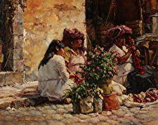 Ristras by John Austin Hanna Oil ~ 24 x 30