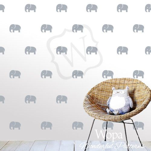 Nursery Wall Decal. Elephant Decal. Set Decal. Elephant Set Decal. Pattern Decal  sc 1 st  Pinterest & Nursery Wall Decal. Elephant Decal. Set Decal. Elephant Set Decal ...