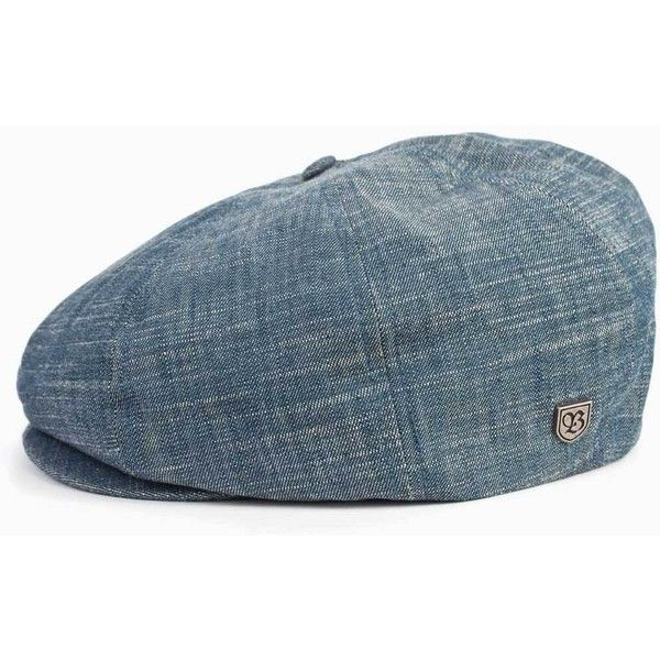 Brixton Brood Newsboy Cap - Denim ( 52) ❤ liked on Polyvore featuring mens 85deac00af4d
