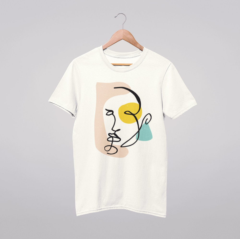 Face Line T Shirt Art Drawing Shirt Abstract Design One Line Line Drawing Trending Clothing Aesthetic Tee Minimalist Picasso Art Creative T Shirt Design Shirt Print Design Cute Shirt Designs