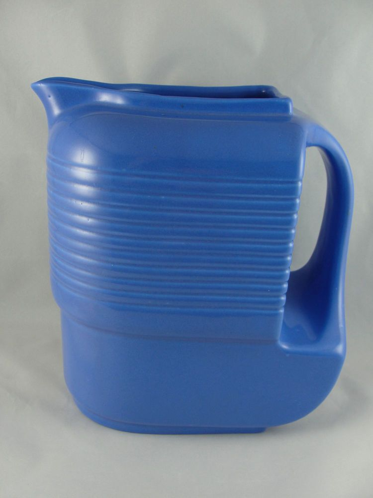 Westinghouse by Hall China Blue Pottery Pitcher with