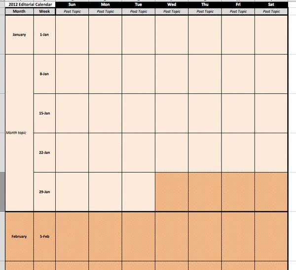 Free Editorial Calendar Template Download For Your Blog (2013 - sample monthly calendar