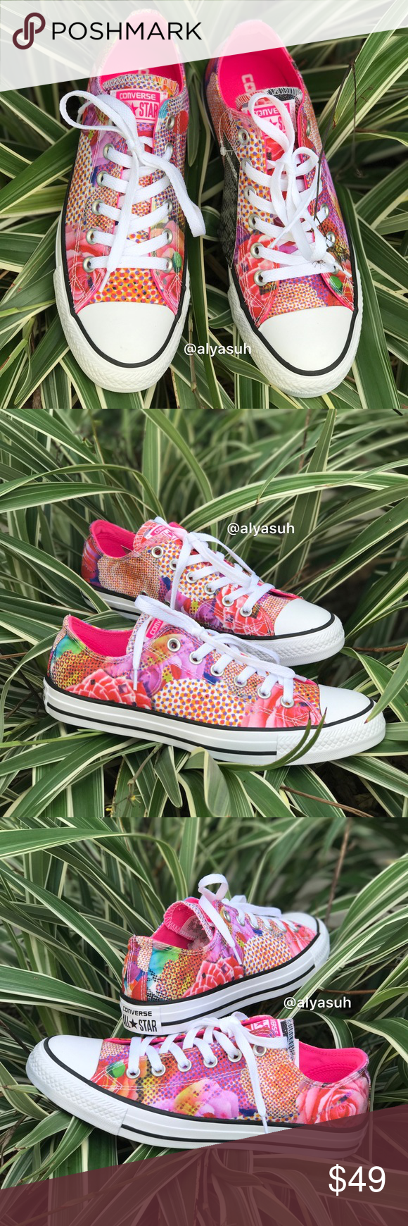 d960223f8271ab Converse Ctas Digital Floral Pink WMNS AUTHENTIC Brand new