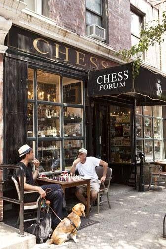 Chess Cafe Greenwich Village Ny City Nyc