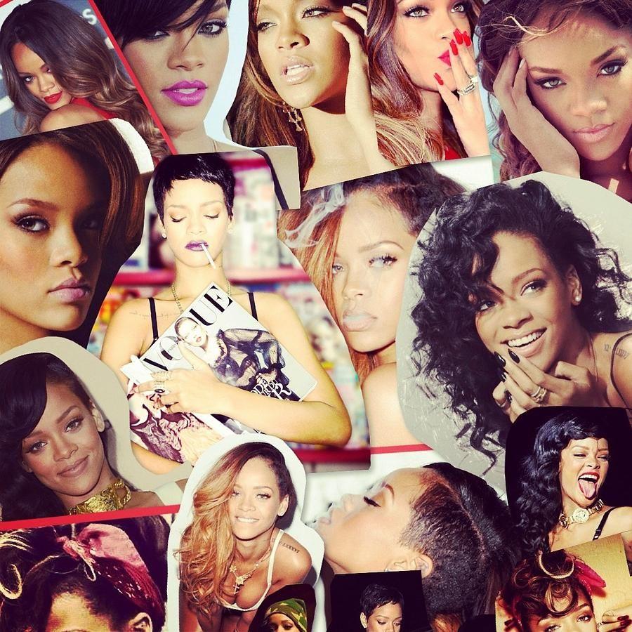 Rihanna collage rihanna collage photograph rihanna - Drake collage wallpaper ...