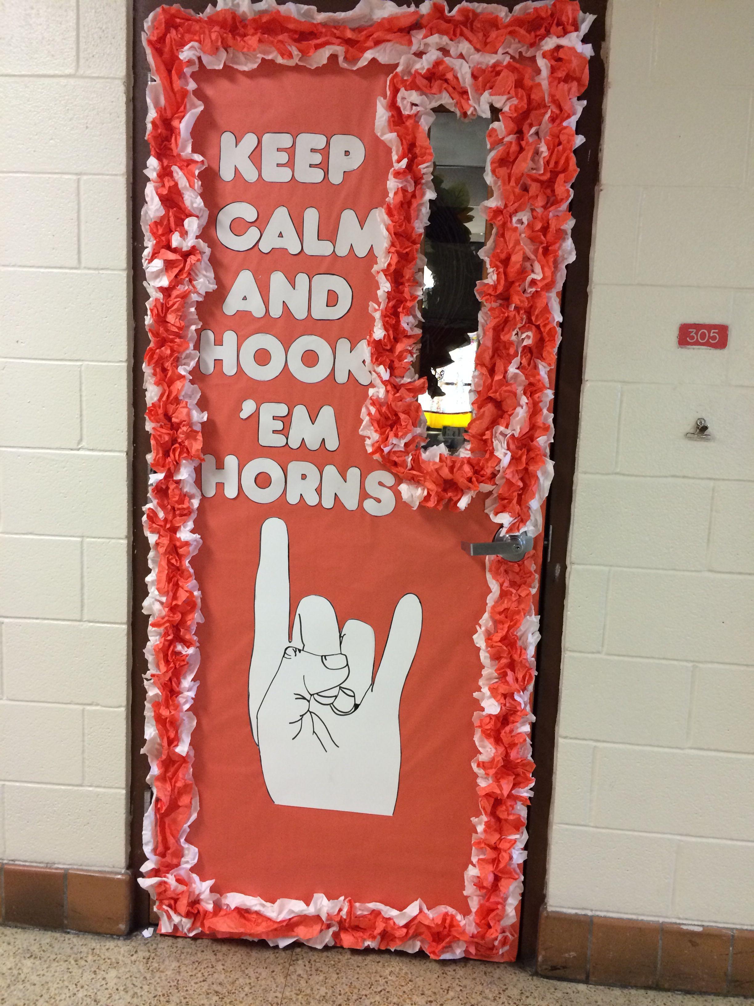 Texas longhorns door school door decorations