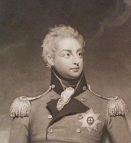 Willem Frederik in een gravure gebaseerd op een geschilderd portret van Henry William Beechey (1826)