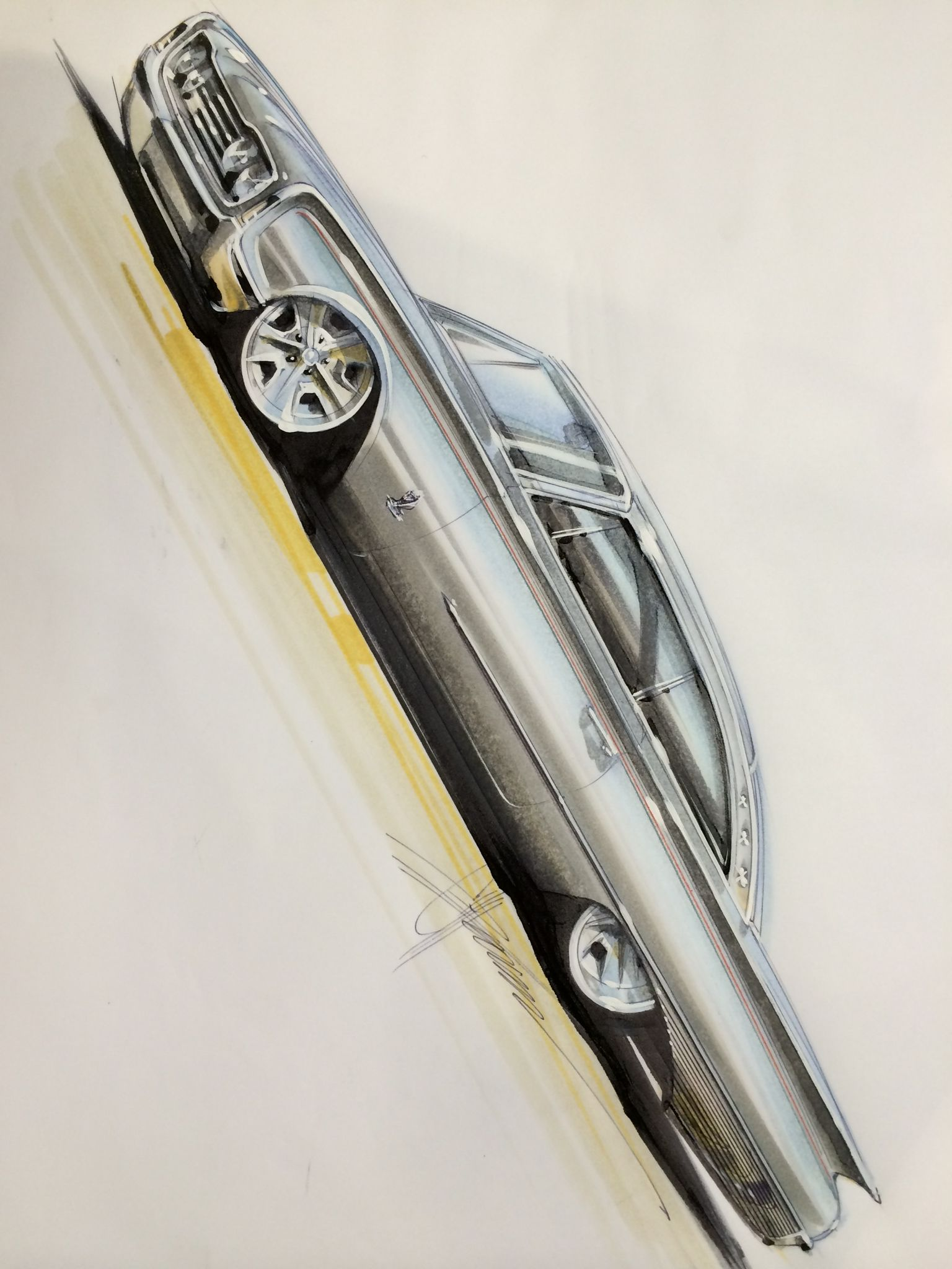 chip foose 57 chevy sketch - Google Search … | Chip foose ...